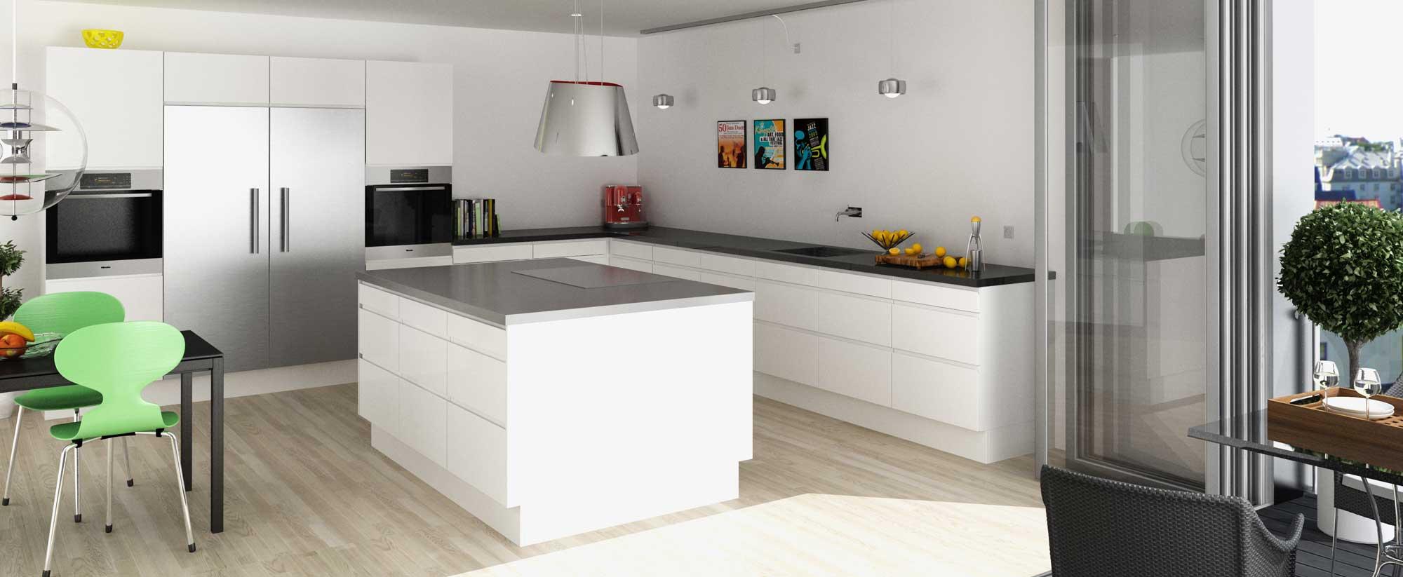Kimbrer modulkøkken Engelmark - designet til ethvert budget. Snedkerkøkken, formkøkken, modulkøkken.