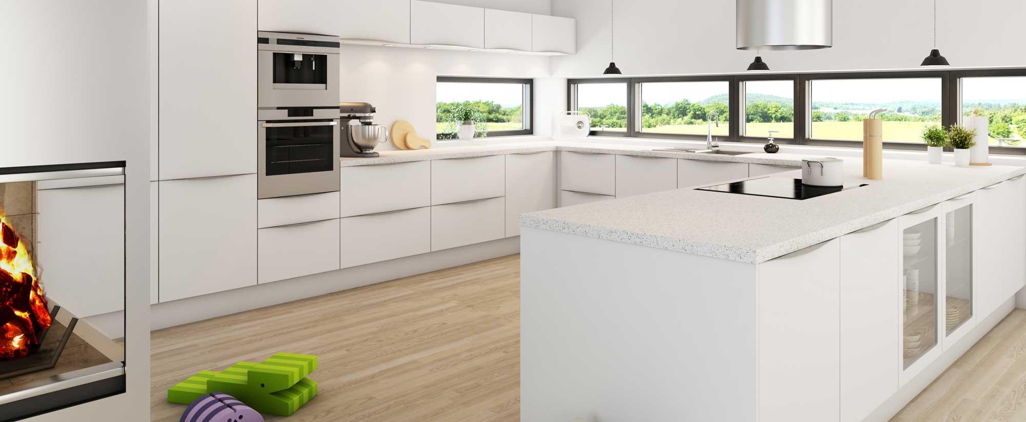 Kimbrer modulkøkken Nordlys - designet til ethvert budget. Snedkerkøkken, formkøkken, modulkøkken.