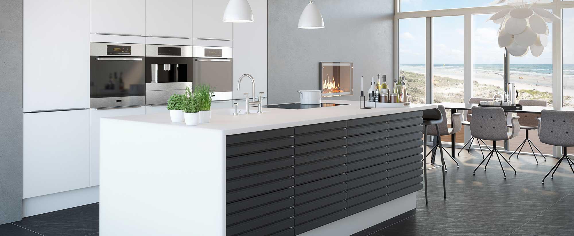 Kimbrer formkøkken - enkelt, stilfuldt, tidløst. Snedkerkøkken, formkøkken, modulkøkken.