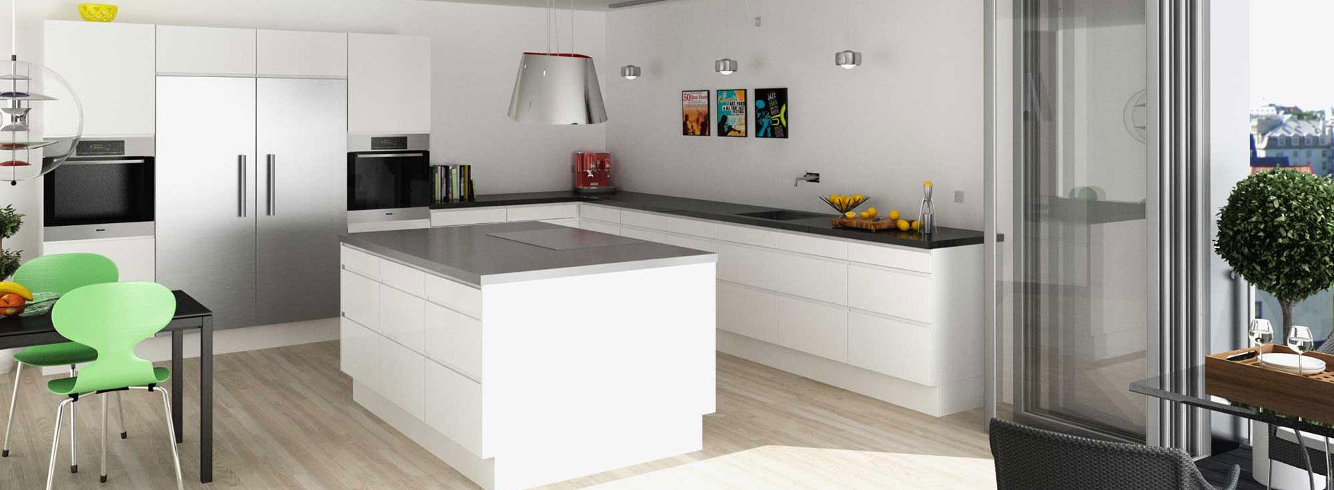 Kimbrer modulkøkken Engelmark. Designet til dit budget. Snedkerkøkken, formkøkken, modulkøkken.