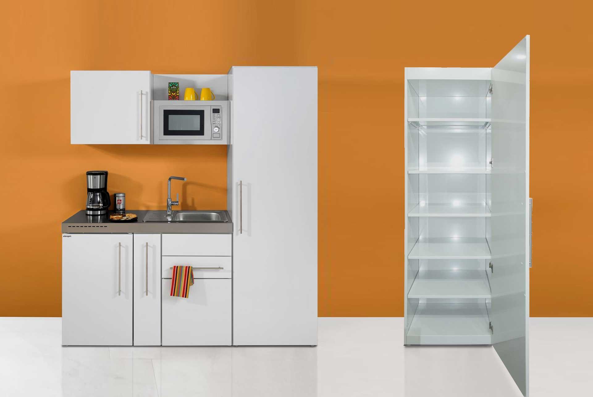 HO 60-216 højskab til minikøkken i rustfrit stål - fra Kimbrer Lines