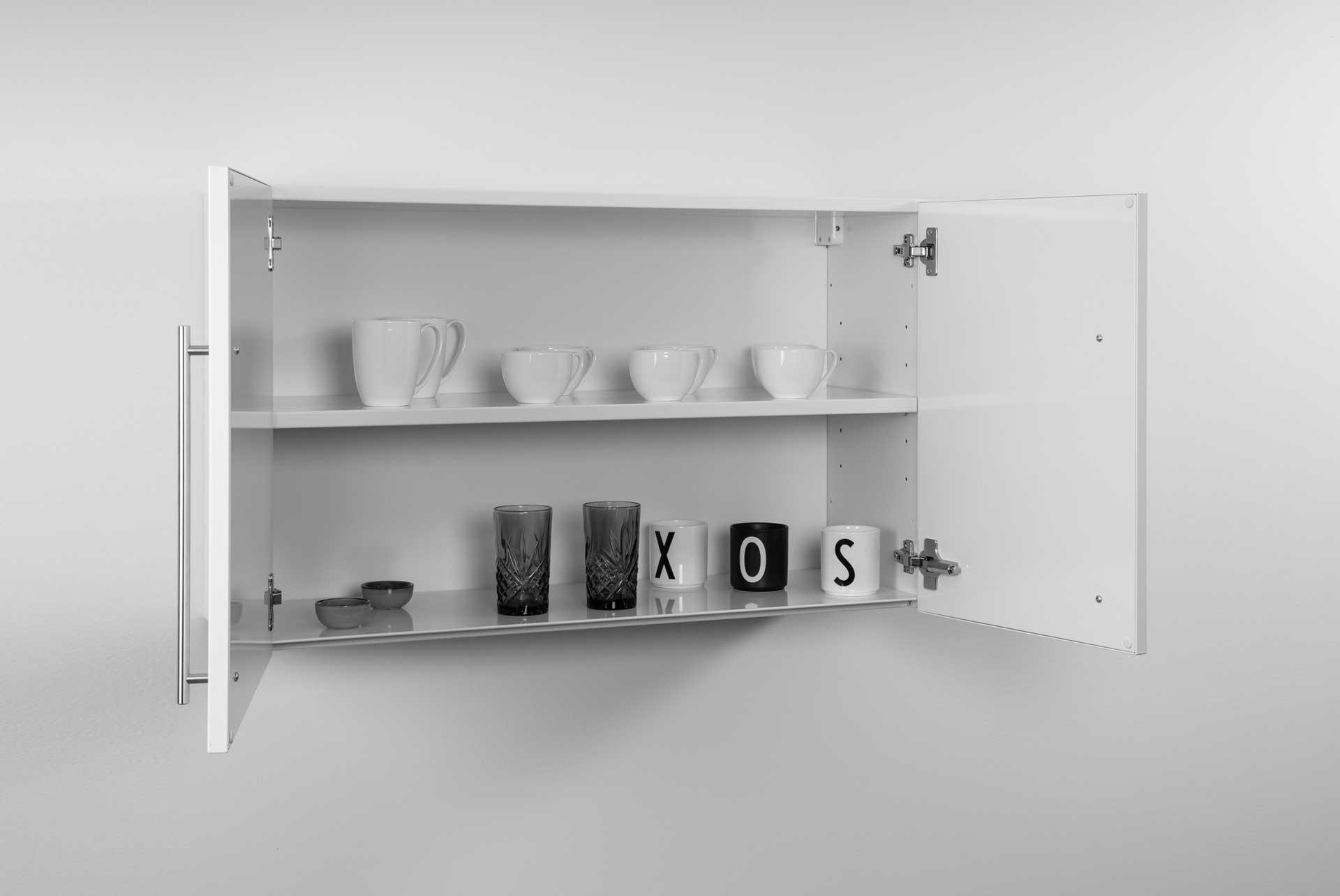 HSPL 90-1 overskab til rustfrit stål minikøkken fra Kimbrer Lines