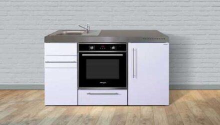 MPB 150 minikøkken fra Kimbrer - kompakt alt-i-et køkken rustfrit stål, inkl. alle hvidevarer og i 8 flotte farver