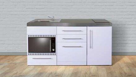 MPGSMOS 170 minikøkken fra Kimbrer - rustfrit stål, inkl. alle hvidevarer og i 8 flotte farver