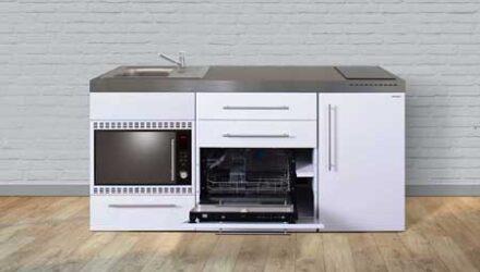 MPGSMOS 180 minikøkken fra Kimbrer - stål køkken i rustfrit stål, inkl. alle hvidevarer og i 8 flotte farver