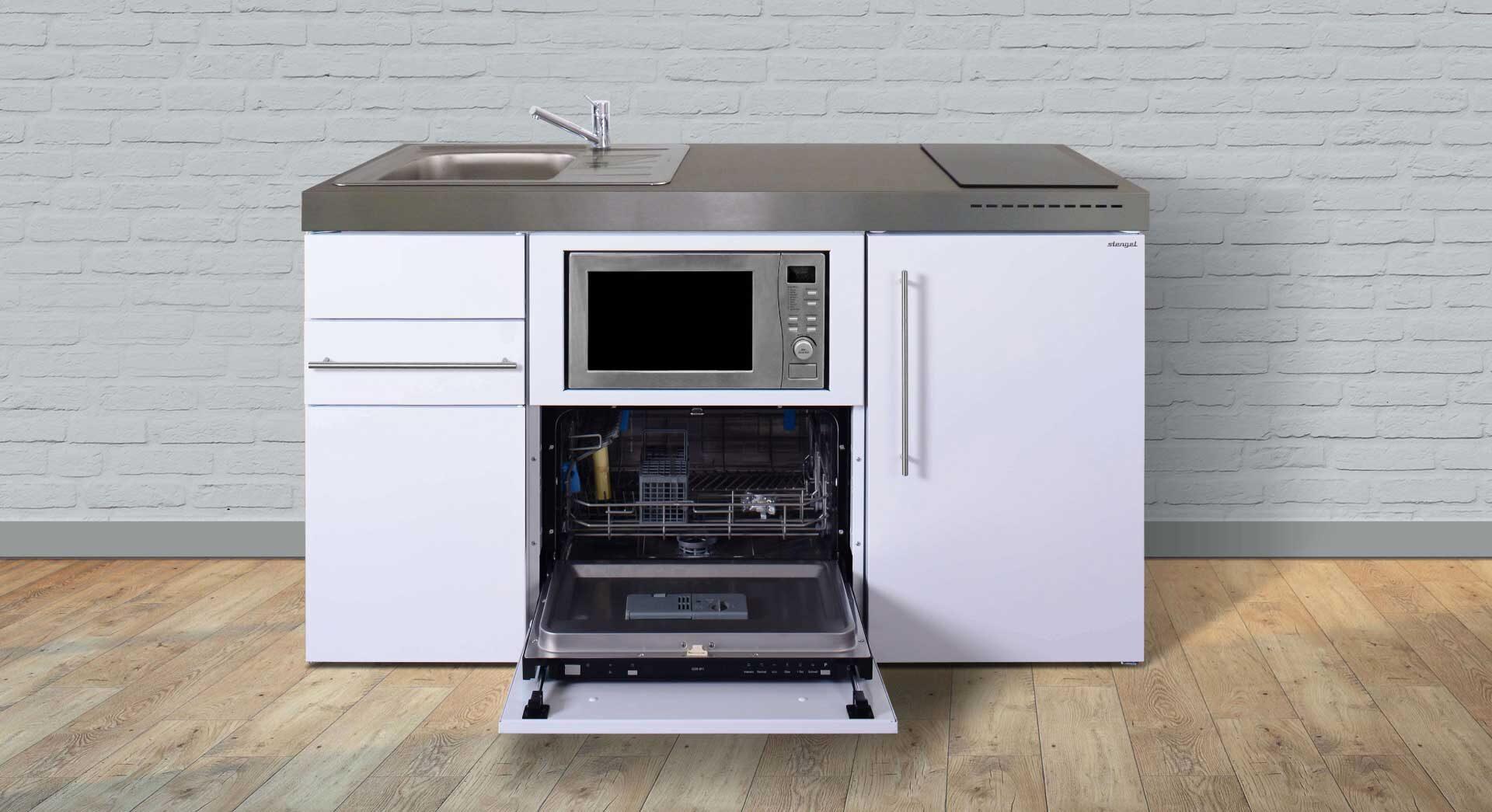 MPGSM 150 minikøkken / stålkøkken - inkl. hvidevarer. 100% genanvendelige materialer.Se pris/tilbud, produktinfo og tilvalg - Kontakt Kimbrer Lines, Røjbækvej 3, 9640 Farsø, tlf. 2512 6789.
