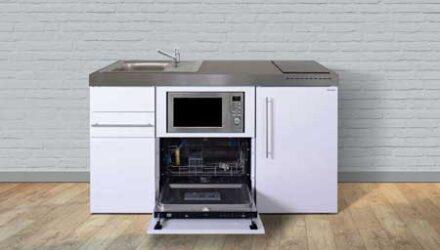 MPGSM 150 minikøkken fra Kimbrer - smart alt-i-et køkken i rustfrit stål, inkl. alle hvidevarer og i 8 flotte farver - www.kimbrerlines.dk