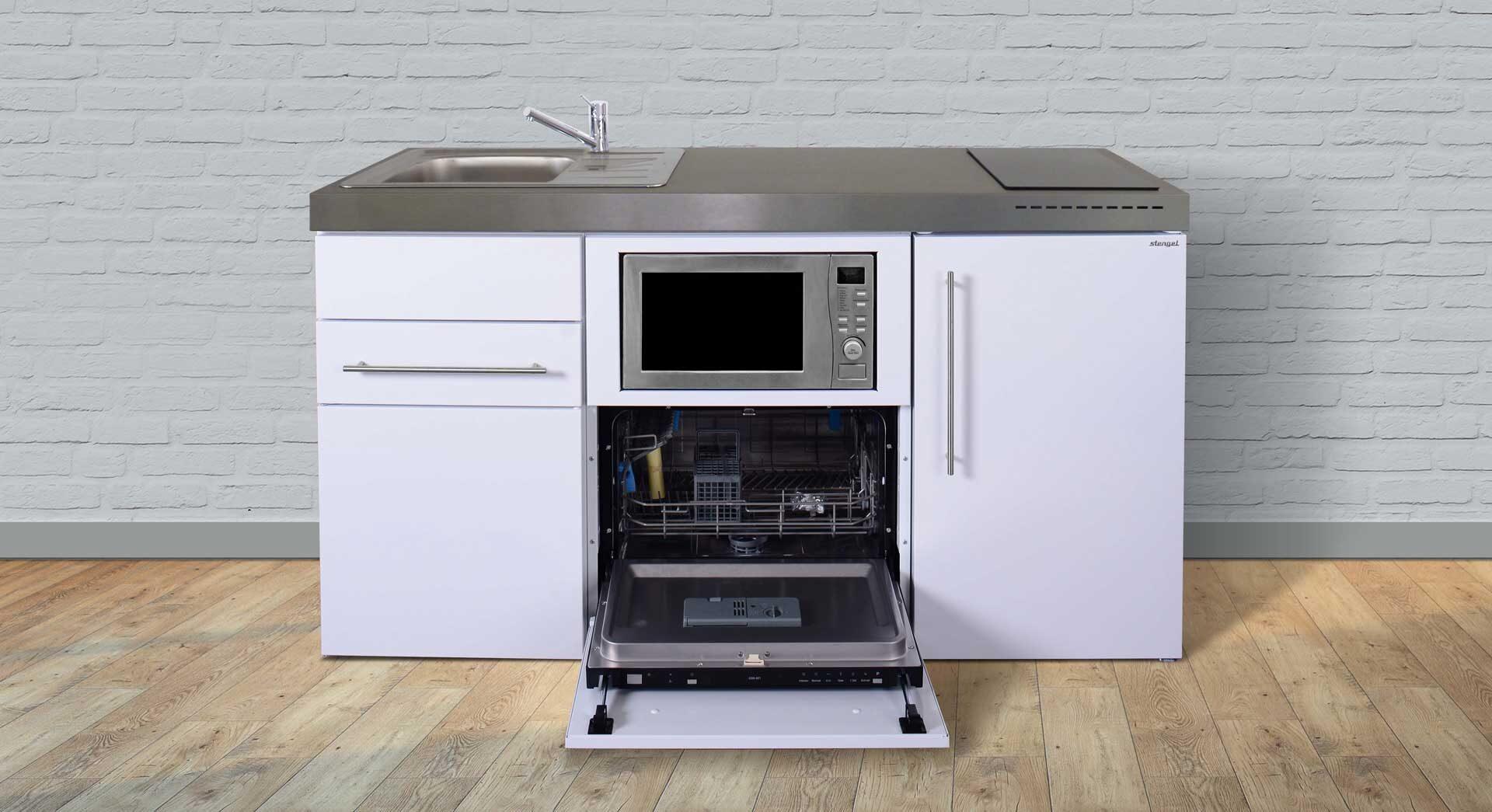 MPGSM 160 minikøkken med alle hvidevarer - vælg mellem 8 moderne elegante farver (pulverlakeret). Kimbrer Lines i Farsø