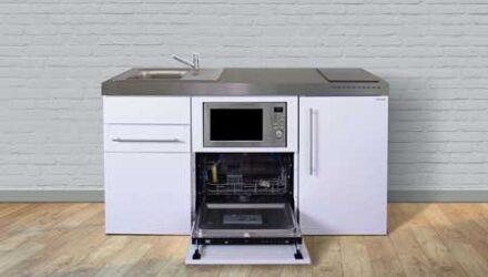 MPGSM 160 minikøkken fra Kimbrer - flot lille køkken i rustfrit stål, inkl. alle hvidevarer og i 8 flotte farver