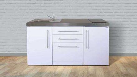 MPGS 160 minikøkken fra Kimbrer - rustfrit stål, inkl. alle hvidevarer og i 8 flotte farver