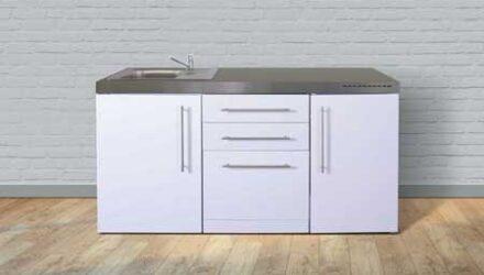 MPGS 170 minikøkken fra Kimbrer - rustfrit stål, inkl. alle hvidevarer og i 8 flotte farver