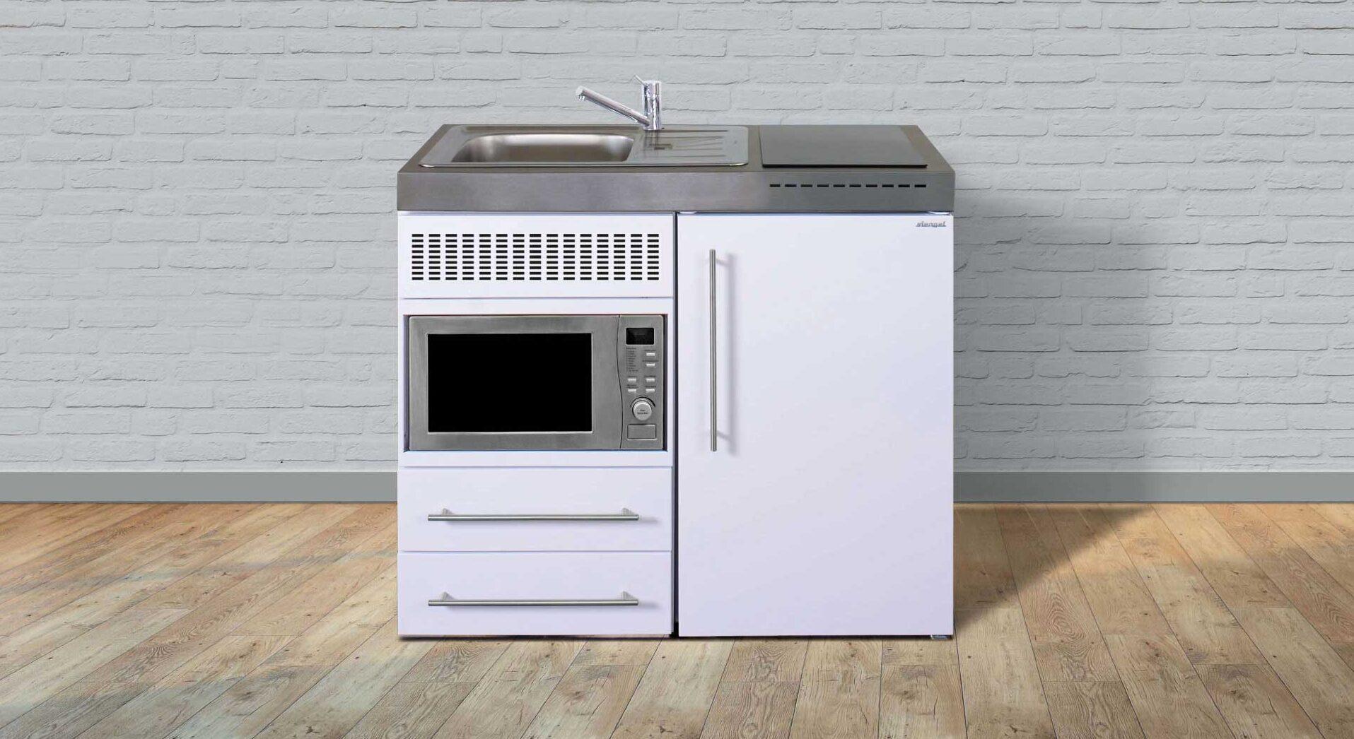 Få billigt moderne minikøkken MPM 100 i rustfrit stål - pris og tilbud hos Kimbrer Lines, Røjbækvej 3, 9640 Farsø, tlf. 2512 6789