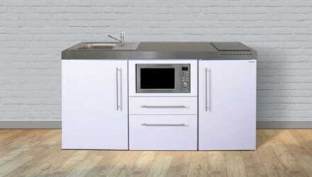 MPM 170 minikøkken fra Kimbrer - rustfrit stål, inkl. alle hvidevarer og i 8 flotte farver. Passer perfekt til små boliger, lejligheder, værelser, kantine eller kontor. Kontakt Kimbrer Lines i Farsø.