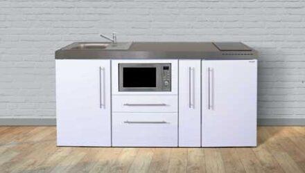 MPM 180 A minikøkken fra Kimbrer - fremstillet i rustfrit stål, inkl. alle hvidevarer og i 8 flotte farver