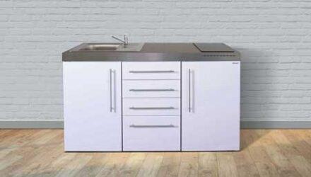 MPS4 150 minikøkken fra Kimbrer - smart alt-i-et køkken i rustfrit stål, inkl. alle hvidevarer og i 8 flotte farver
