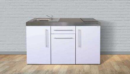 MP 150 minikøkken fra Kimbrer - vælg mellem 8 smarte farver (pulverlakeret) i rustfrit stål, inkl. alle hvidevarer - kimbrerlines.dk