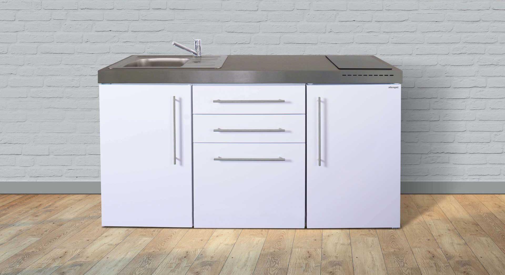 Minikøkken i rustfrit stål MP 160 inkl. hvidevarer - se attraktiv pris/tilbud, produktinfo og tilvalg her. Kontakt Kimbrer Lines på tlf. 25126789 eller info@kimbrerlines.dk