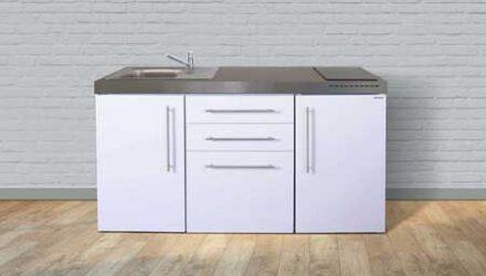 MP 160 minikøkken fra Kimbrer - rustfrit stål, inkl. alle hvidevarer og i 8 flotte farver