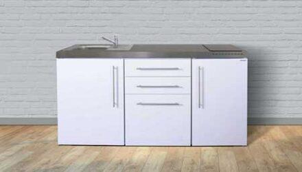 MP 170 minikøkken fra Kimbrer - rustfrit stål, inkl. alle hvidevarer og i 8 flotte farver