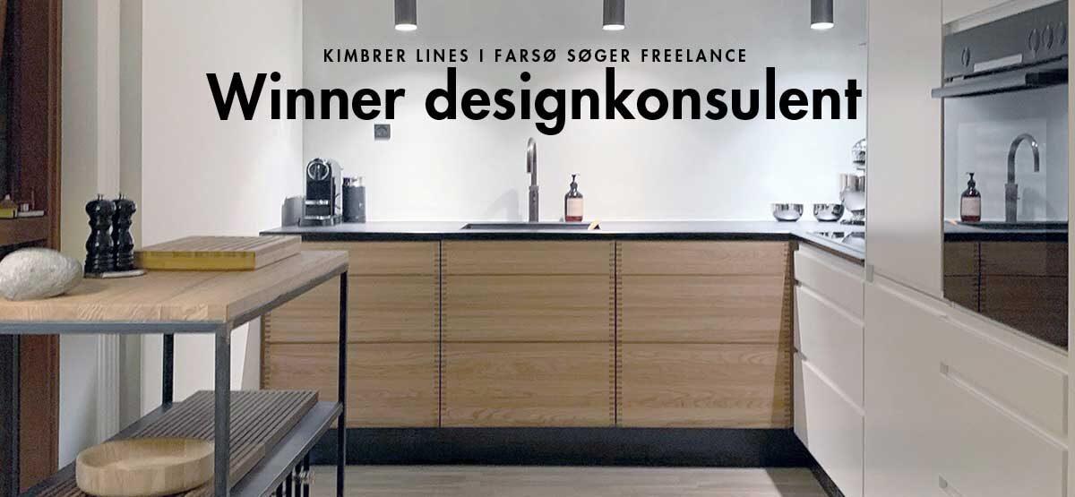 Job hos Kimbrer Lines: Freelance Winner designkonsulent til indretnings- og designsarbejde over for private boligejere og erhvervskunder